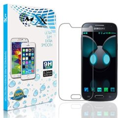 Mxx Glass Screen Protector Designed for Galaxy S4 Mini, Tempered with Touch Accurate and Impact Absorb Easy Installation Display Anti-Scratch – HD Clarity