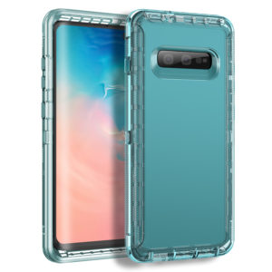 MXX Clear Case Compatible with Galaxy S10 Plus – Heavy Duty TPU Shock Absorption Bumper and Hard PC Anti-Scratch Coating for Samsung Galaxy S10 Plus/ S10 + – (Clear)