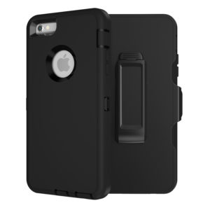 MXX Heavy Duty Defender Case Compatible with iPhone 6S/ iPhone 6 TPU and PC Cover Case with 360 Degree Rotating Belt Clip (Black)