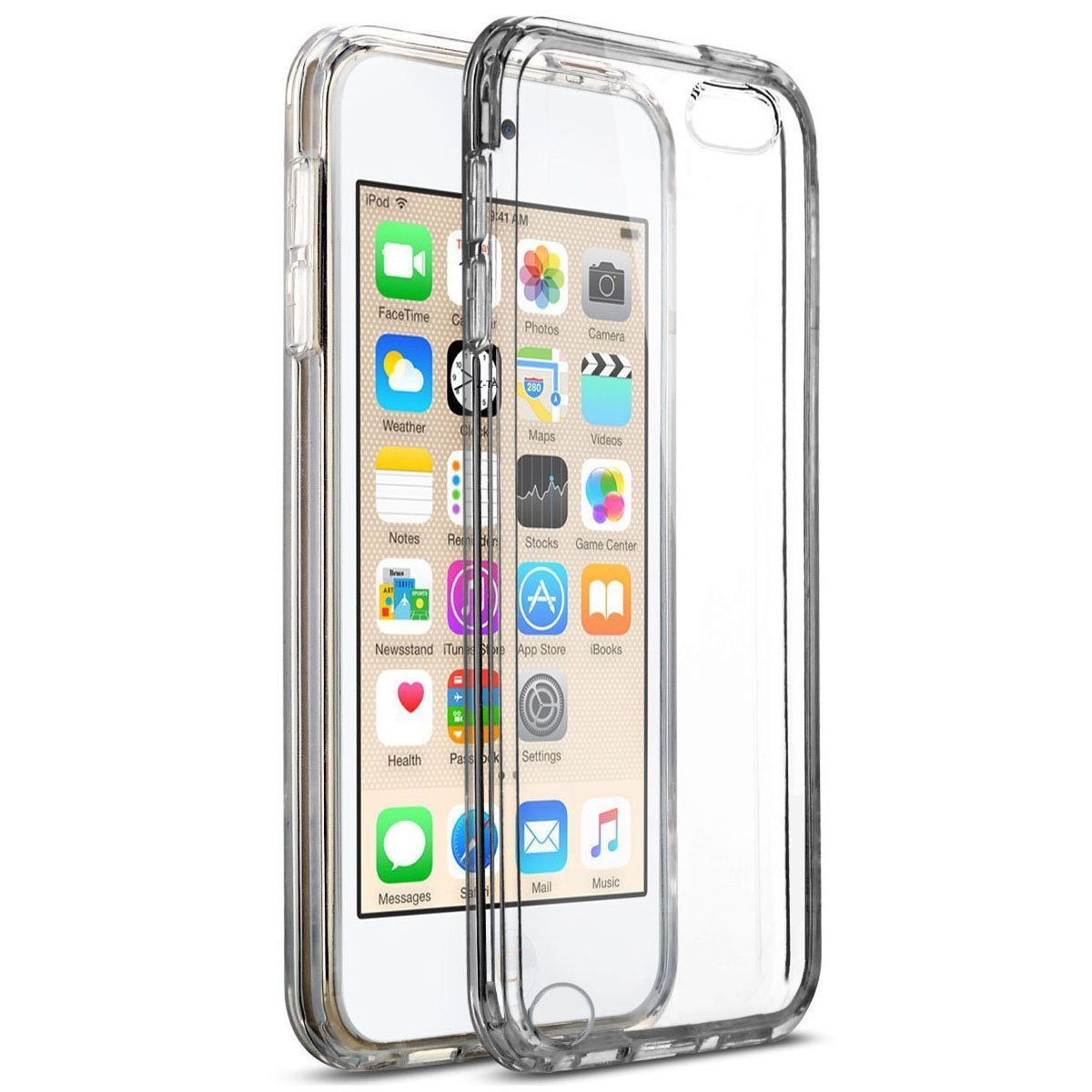 info for 8d1f9 9a65d MXX iPod Touch 5th And 6th Generation TPU Slim Clear Case With Intergrated  Shock Absorbing Soft TPU Bumper Easy Install for Apple iPod 6/iPod 5 Touch