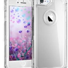 iPhone 8 Clear Case – by MXX – Hybrid Heavy Duty Protective Dual Layer Shockproof Cover with Hard PC Bumper + Soft TPU Back for Apple iPhone 7/8/6S – Transparent