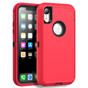 iPhone XR  Heavy Duty Case (RED)